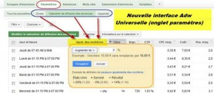 ajustement adwords